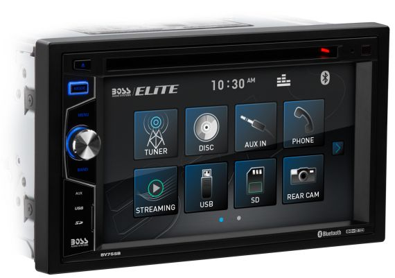 Boss Audio In-dash Video BV755B Double-DIN, DVD Player 6.2